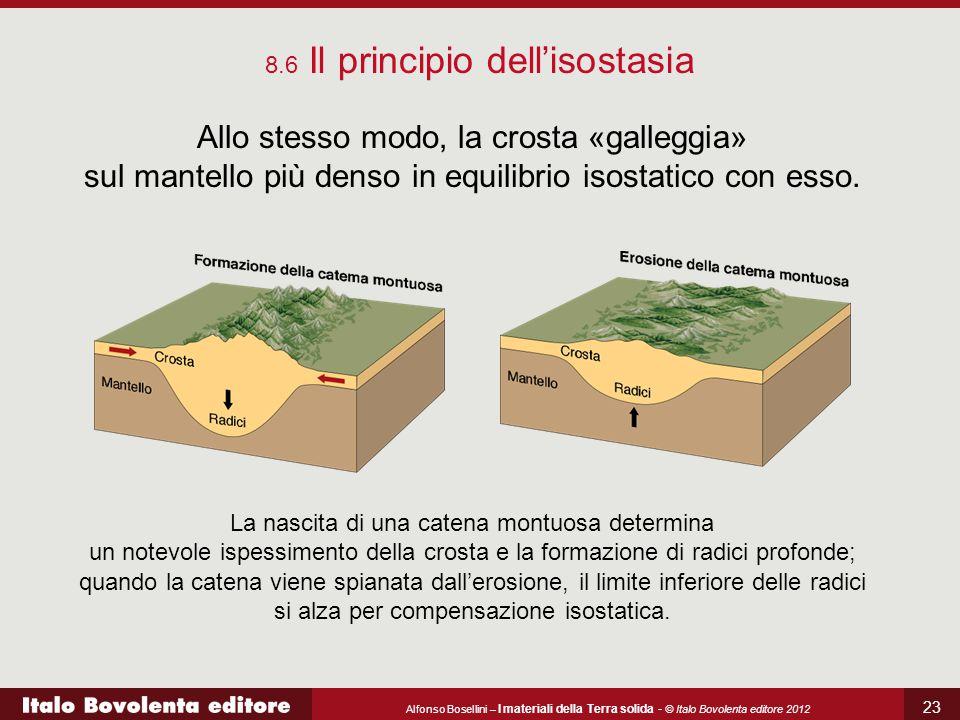 Alfonso Bosellini – I materiali della Terra solida - © Italo Bovolenta editore 2012 23 8.6 Il principio dell'isostasia Allo stesso modo, la crosta «ga