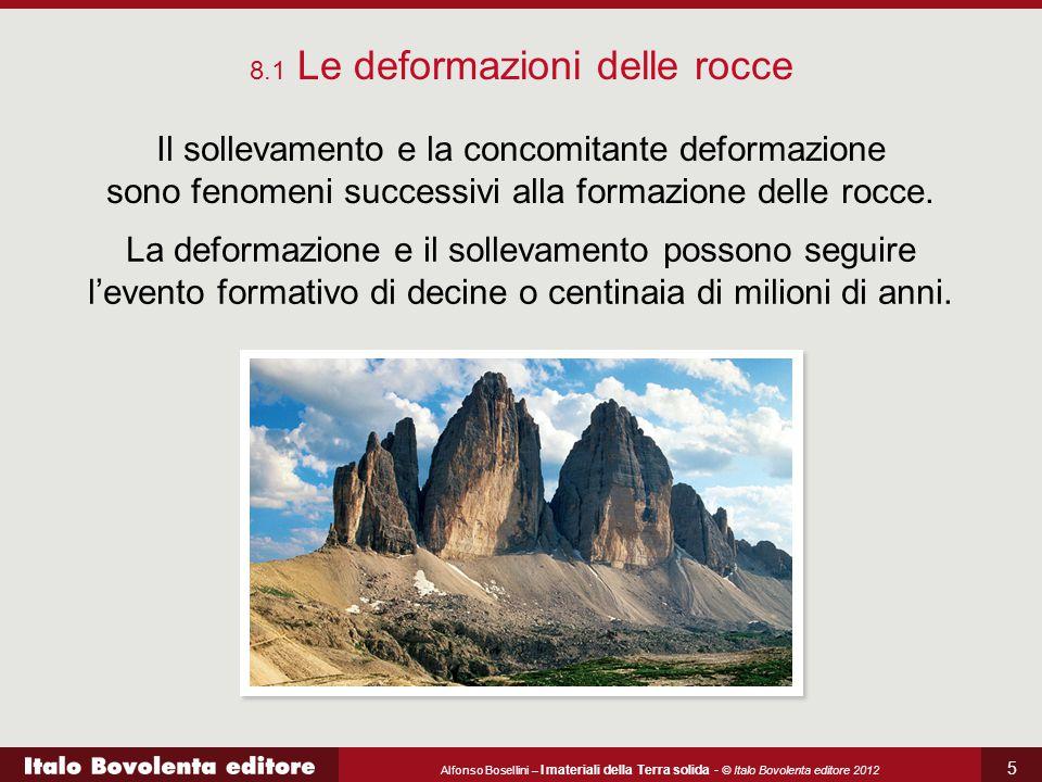 Alfonso Bosellini – I materiali della Terra solida - © Italo Bovolenta editore 2012 5 8.1 Le deformazioni delle rocce Il sollevamento e la concomitant
