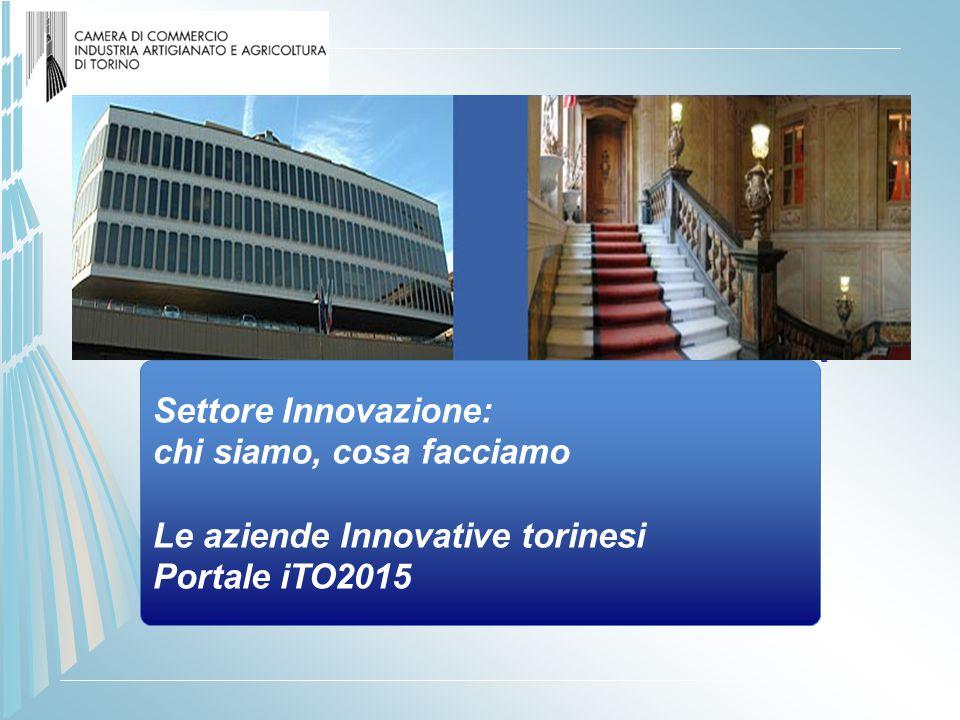CAMERA DI COMMERCIO DI TORINO Settore INNOVAZIONE TECNOLOGICA PRESENTAZIONE ATTIVITA' Settore Innovazione: chi siamo, cosa facciamo Le aziende Innovat