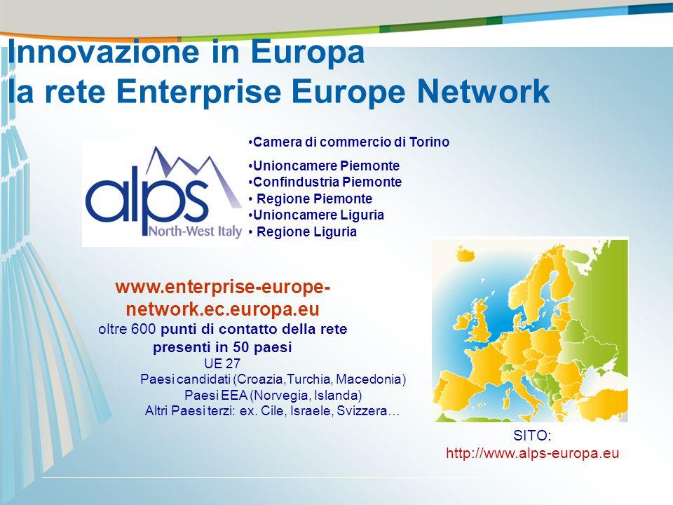 www.enterprise-europe- network.ec.europa.eu oltre 600 punti di contatto della rete presenti in 50 paesi UE 27 Paesi candidati (Croazia,Turchia, Macedo