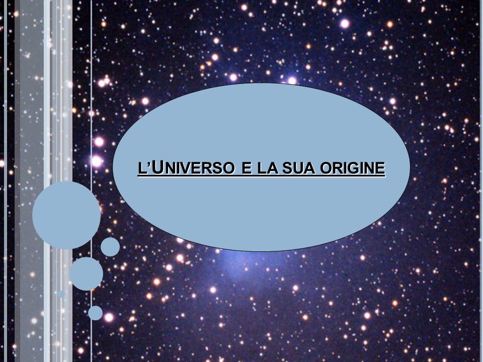 L' U NIVERSO E LA SUA ORIGINE
