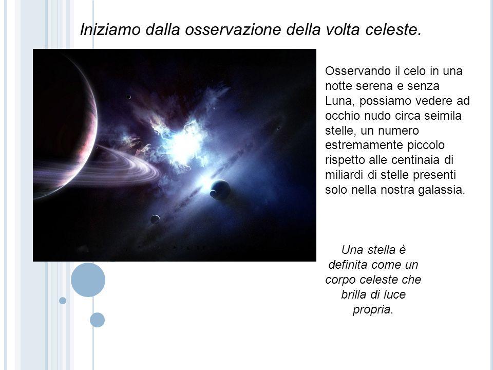 Le stelle, sono corpi celesti luminosi distanti anche centinaia di anni luce da noi, ben visibili solo di notte.