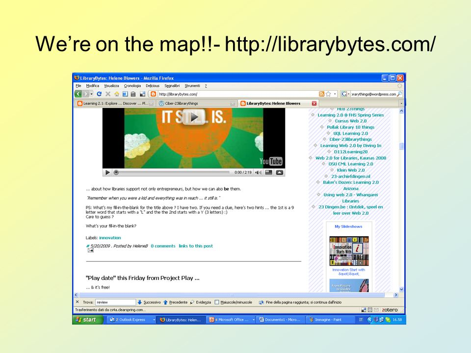 We're on the map!!- http://librarybytes.com/