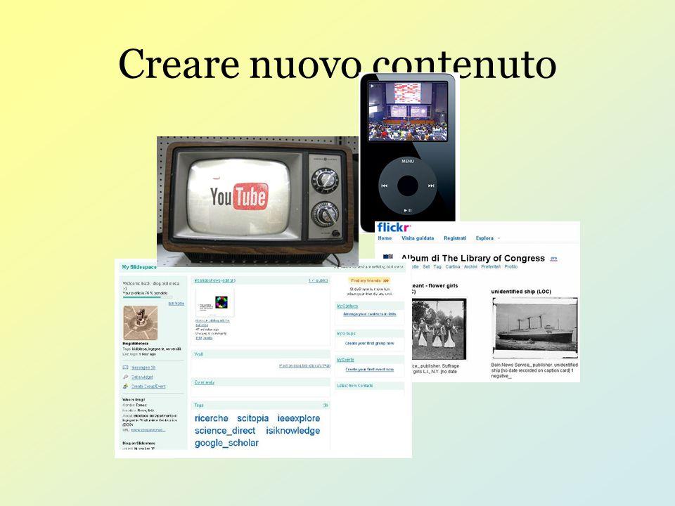Creare nuovo contenuto