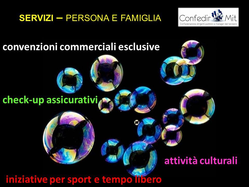 cc check-up assicurativi convenzioni commerciali esclusive iniziative per sport e tempo libero attività culturali