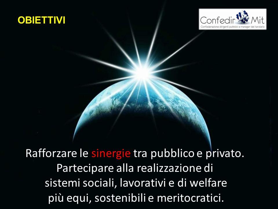 OBIETTIVI Rafforzare le sinergie tra pubblico e privato.