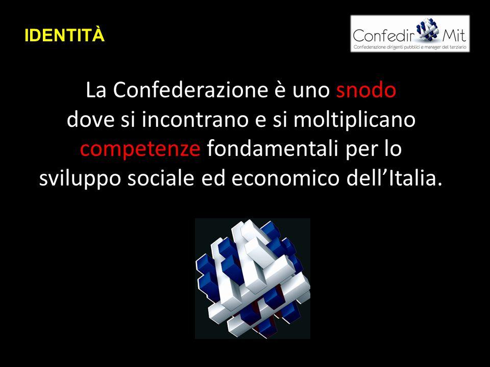 La Confederazione è uno snodo dove si incontrano e si moltiplicano competenze fondamentali per lo sviluppo sociale ed economico dell'Italia.