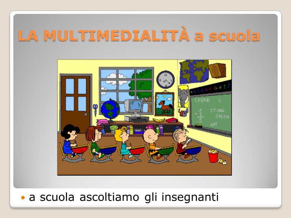 LA MULTIMEDIALITÀ a scuola a scuola ascoltiamo gli insegnanti