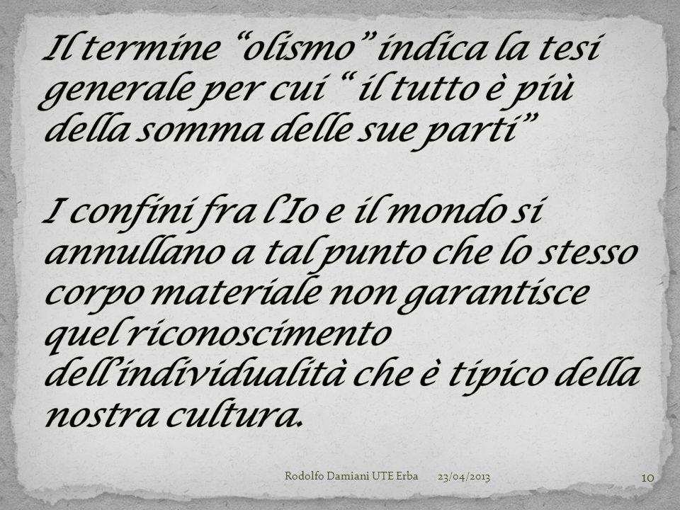 23/04/2013Rodolfo Damiani UTE Erba 10