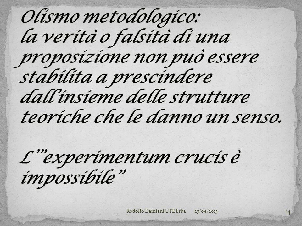 23/04/2013Rodolfo Damiani UTE Erba 14