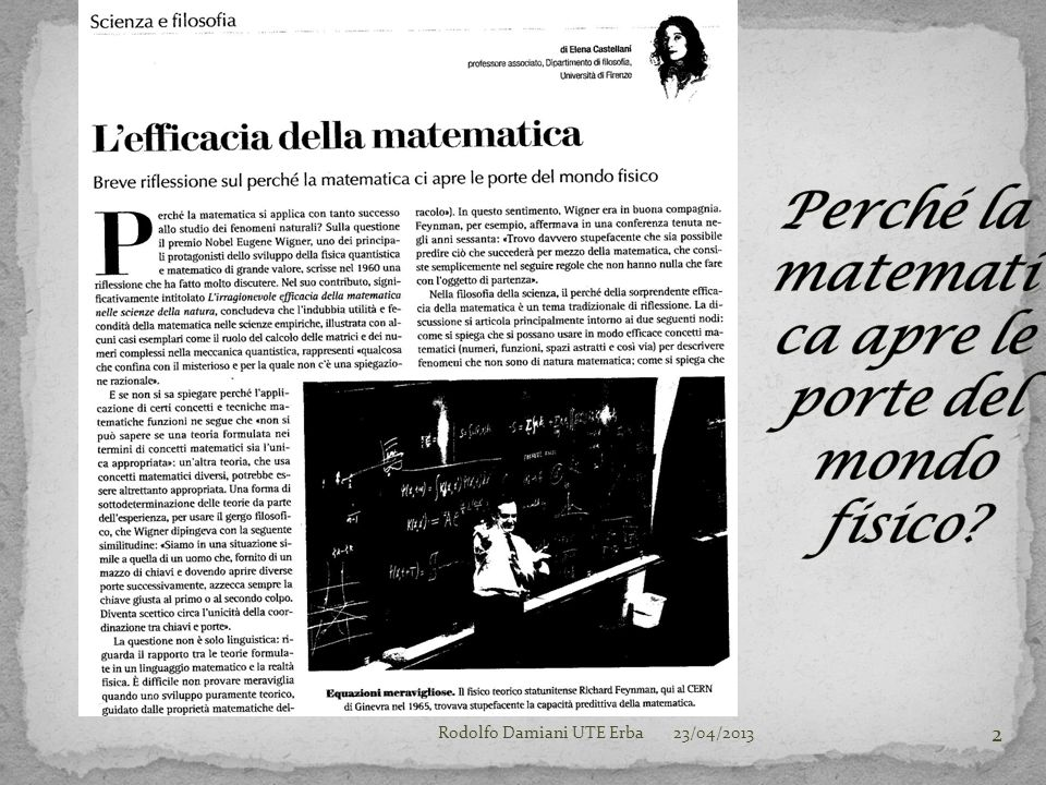 23/04/2013Rodolfo Damiani UTE Erba 2