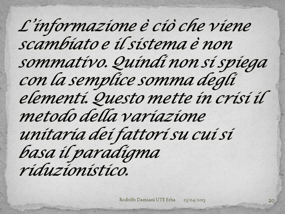 23/04/2013Rodolfo Damiani UTE Erba 20