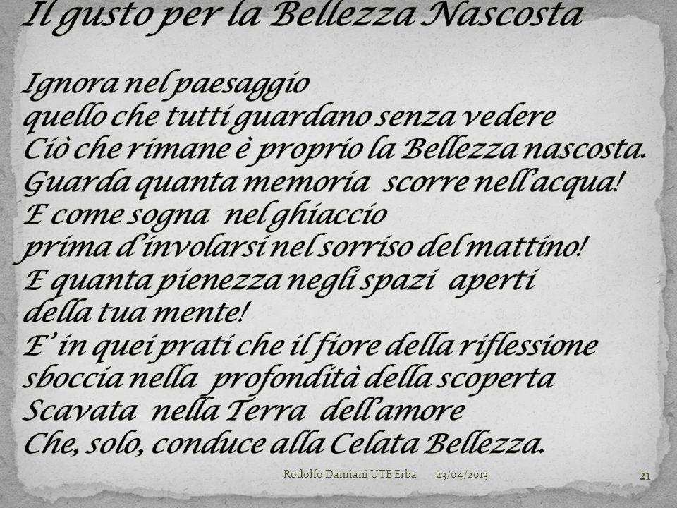 23/04/2013Rodolfo Damiani UTE Erba 21