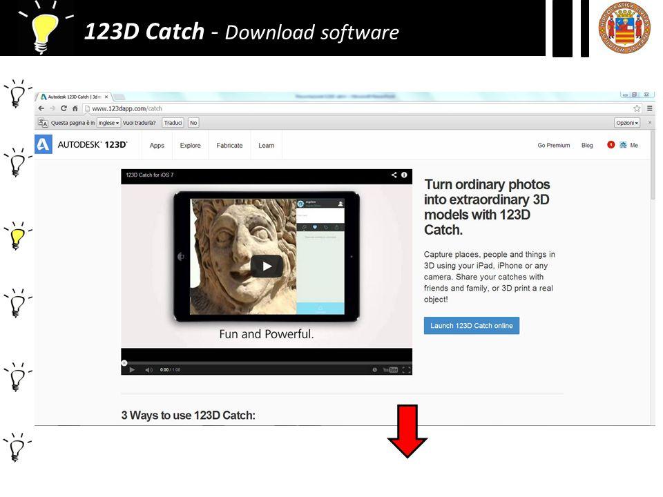 123D Catch - Settaggio
