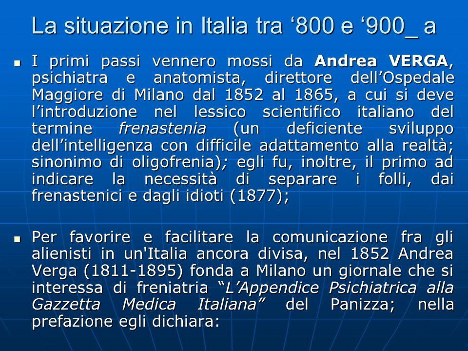 La situazione in Italia tra '800 e '900_ b «...