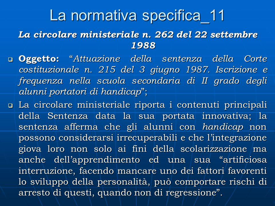 La normativa specifica_11 La circolare ministeriale n.