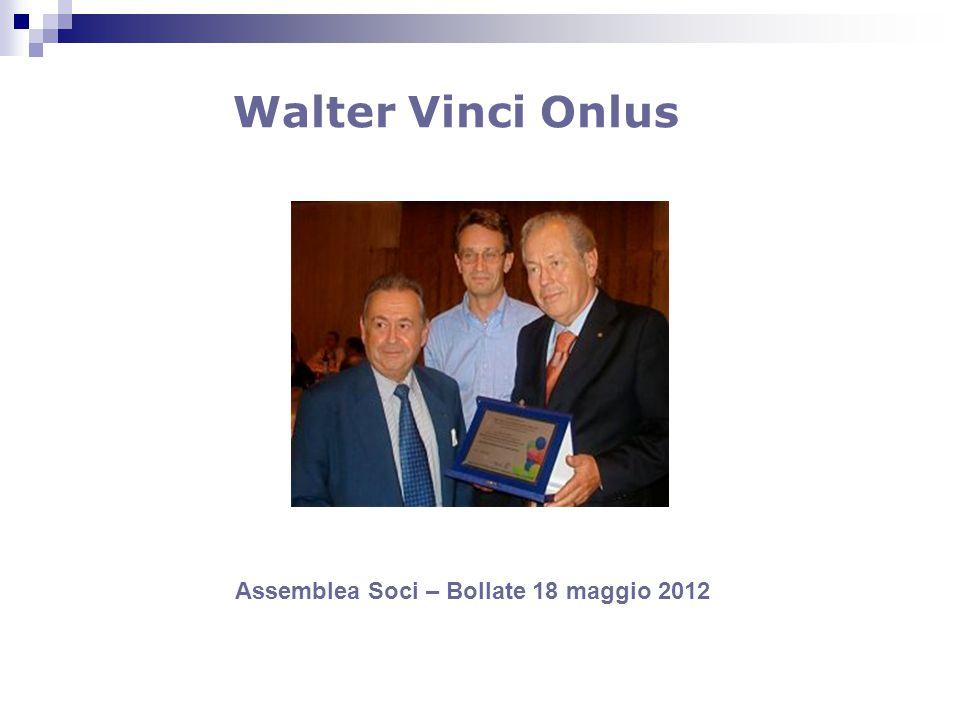 Walter Vinci Onlus Assemblea Soci – Bollate 18 maggio 2012