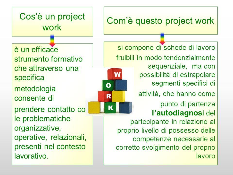 Cos'è un project work è un efficace strumento formativo che attraverso una specifica metodologia consente di prendere contatto con le problematiche or