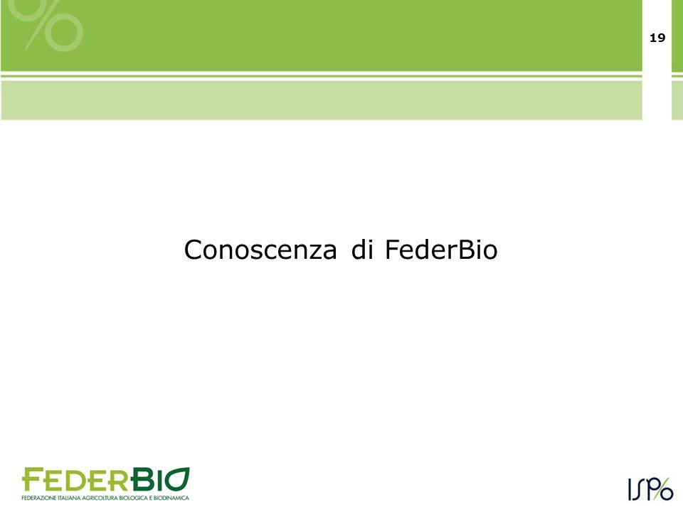 19 Conoscenza di FederBio