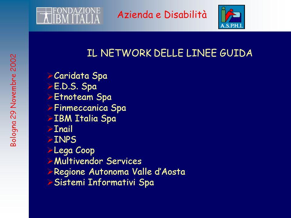 Bologna 29 Novembre 2002 Azienda e Disabilità