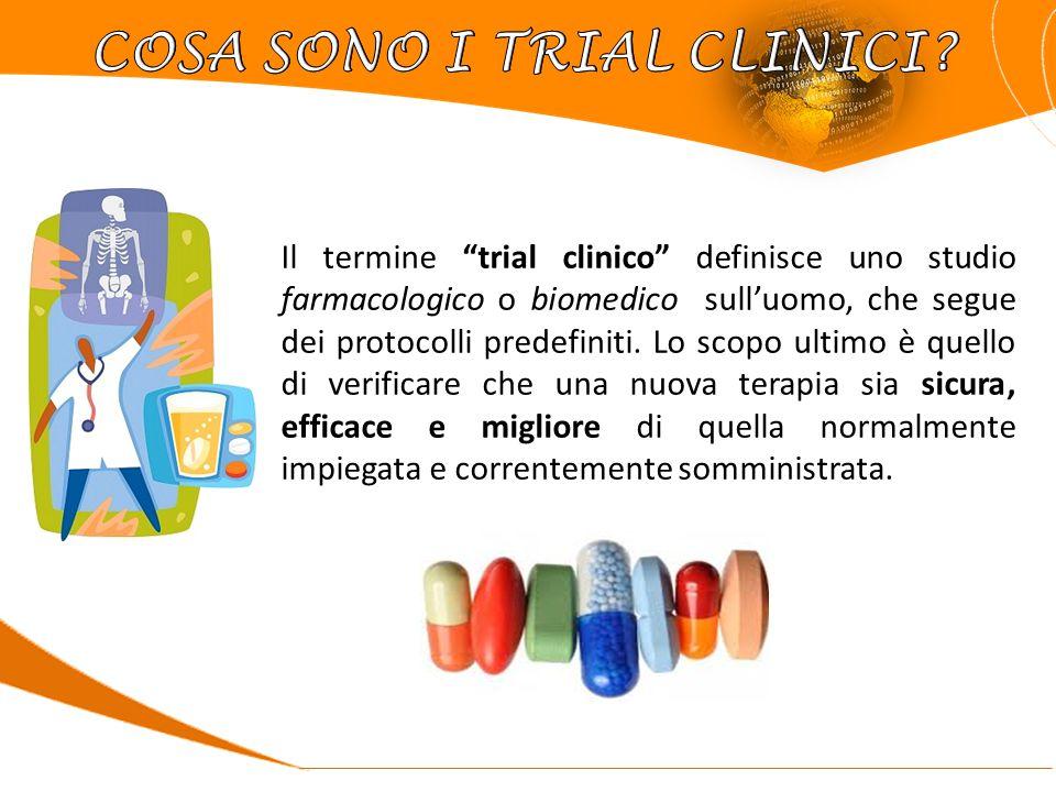 Il termine trial clinico definisce uno studio farmacologico o biomedico sull'uomo, che segue dei protocolli predefiniti.