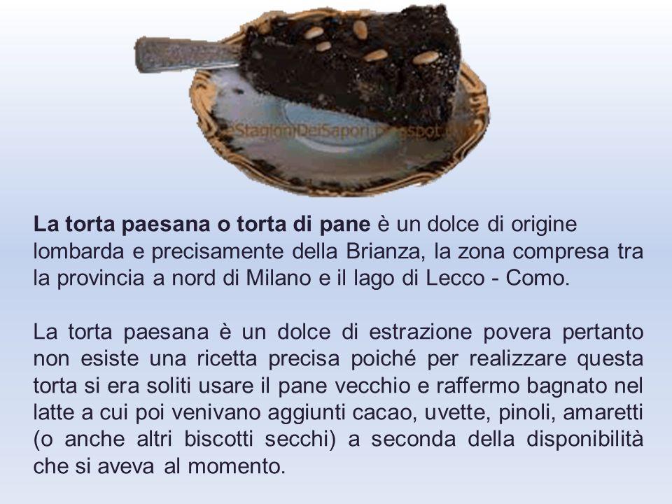 Guarda cosa si può fare col pane secco: TORTA PAESANA o TURTA DE MICHELAC BRIANZA.