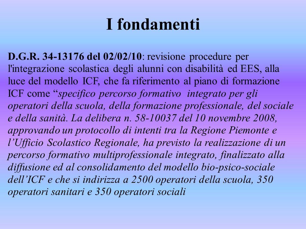 I fondamenti D.G.R. 34-13176 del 02/02/10: revisione procedure per l'integrazione scolastica degli alunni con disabilità ed EES, alla luce del modello