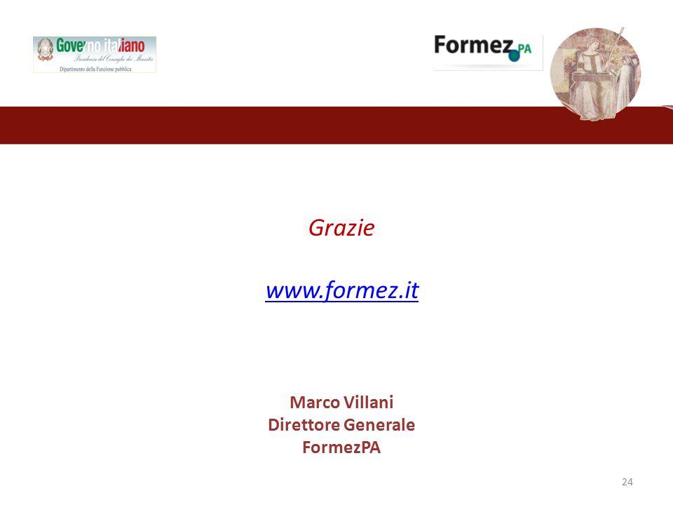 Grazie www.formez.it Marco Villani Direttore Generale FormezPA 24