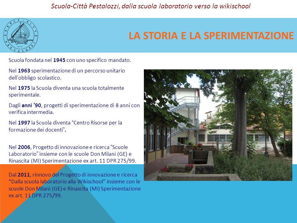 LA STORIA E LA SPERIMENTAZIONE Scuola fondata nel 1945 con uno specifico mandato. Nel 1963 sperimentazione di un percorso unitario dell'obbligo scolas
