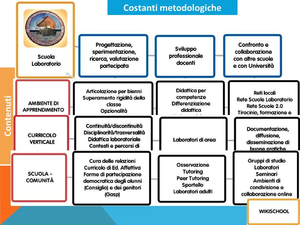 TECNOLOGIE Costanti metodologiche Contenuti