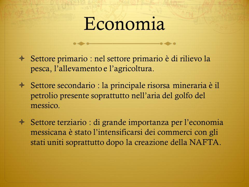 Economia  Settore primario : nel settore primario è di rilievo la pesca, l'allevamento e l'agricoltura.  Settore secondario : la principale risorsa