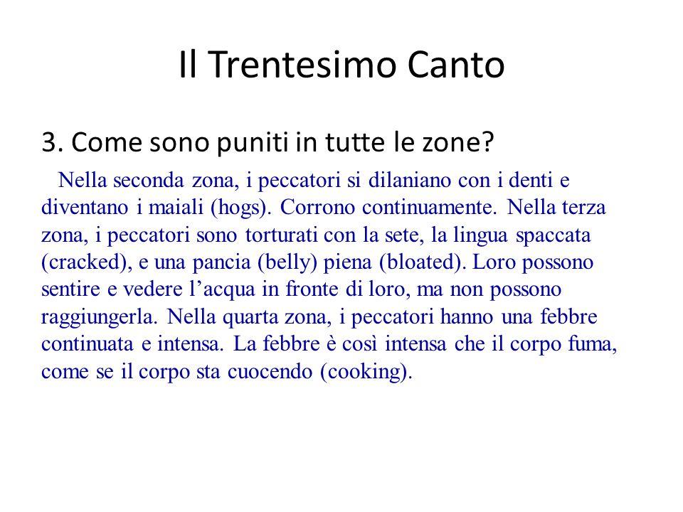 Il Trentesimo Canto 3.Come sono puniti in tutte le zone.