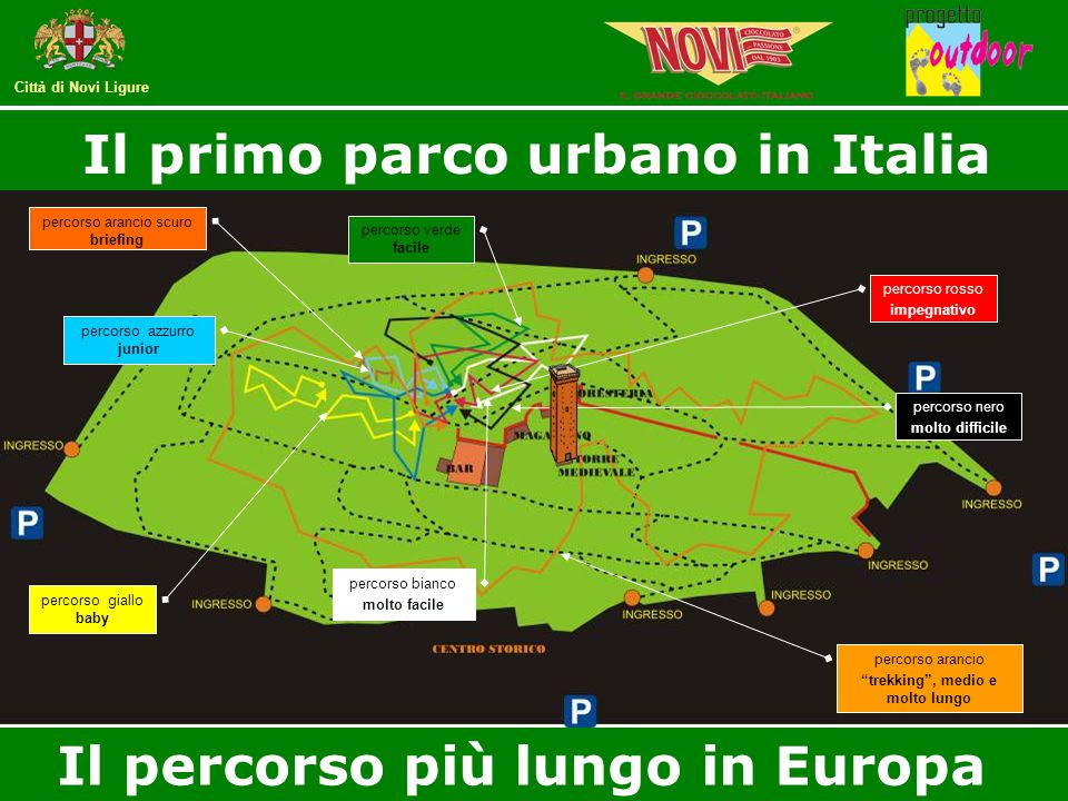Città di Novi Ligure percorso arancio scuro briefing percorso giallo baby percorso azzurro junior percorso verde facile percorso bianco molto facile p