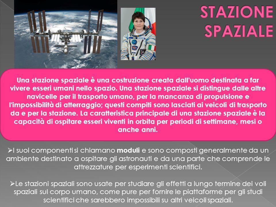 Una stazione spaziale è una costruzione creata dall'uomo destinata a far vivere esseri umani nello spazio. Una stazione spaziale si distingue dalle al