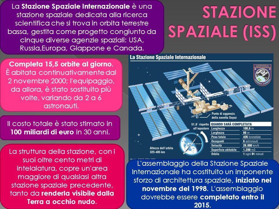 La Stazione Spaziale Internazionale è una stazione spaziale dedicata alla ricerca scientifica che si trova in orbita terrestre bassa, gestita come pro