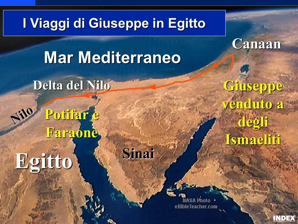 Egitto Nilo Delta del Nilo Mar Mediterraneo Sinai Canaan I Viaggi di Giuseppe in Egitto Giuseppe venduto a degli Ismaeliti Potifar e Faraone Joseph's