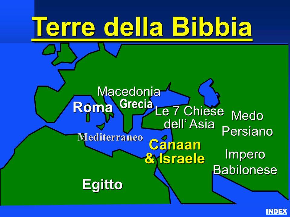 Terre della Bibbia Continents & Land Masses INDEX Europa Meridionale Medio Oriente Asia Minore Nord Africa Mar Mediterraneo