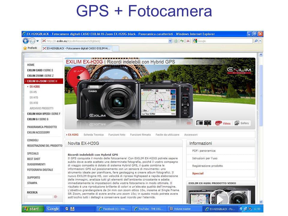 GPS + Fotocamera
