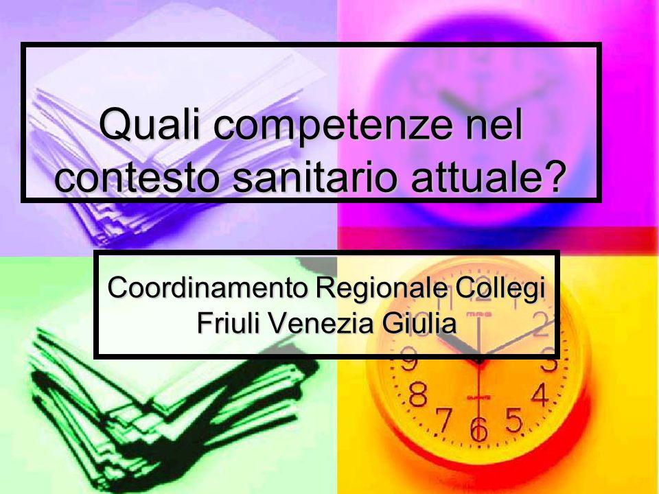 Quali competenze nel contesto sanitario attuale? Coordinamento Regionale Collegi Friuli Venezia Giulia