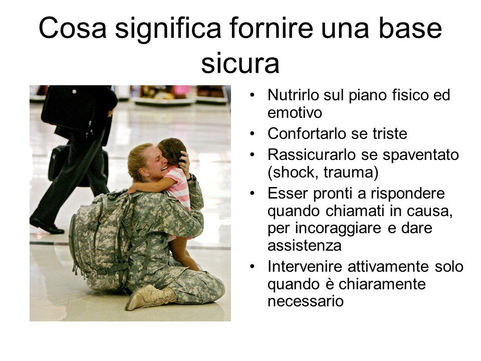 Cosa influenza il fornire una base sicura Fornire sostegno emotivo al nuovo genitore significa fornirle quella base sicura di cui ha bisogno.