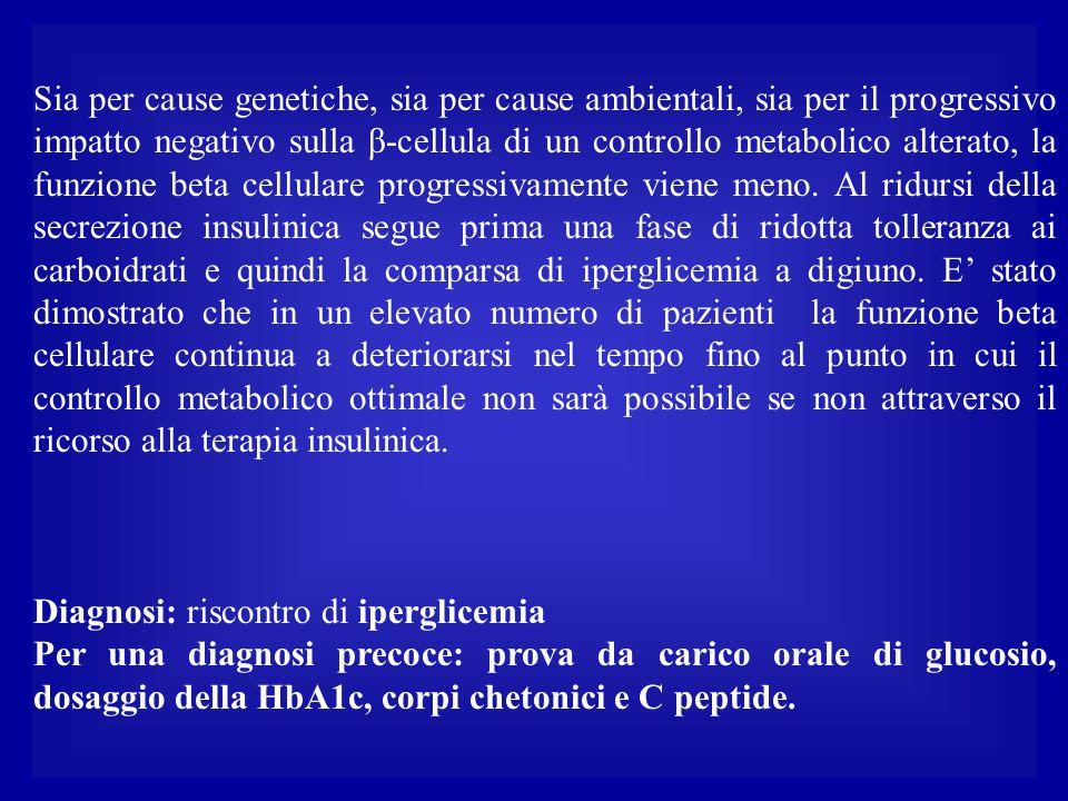 Sia per cause genetiche, sia per cause ambientali, sia per il progressivo impatto negativo sulla β-cellula di un controllo metabolico alterato, la fun