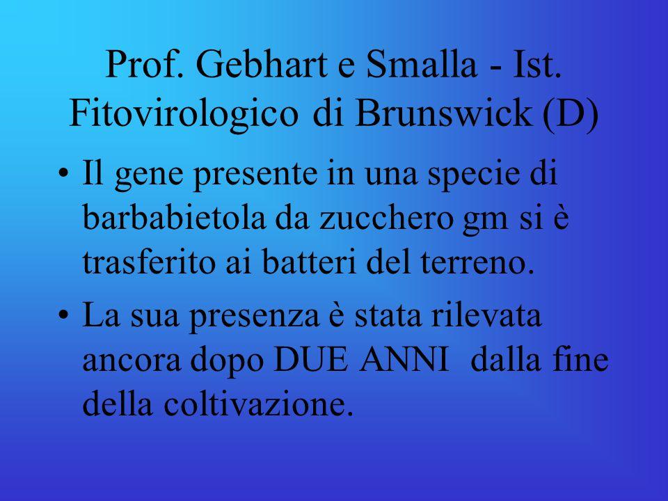 Prof.Gebhart e Smalla - Ist.