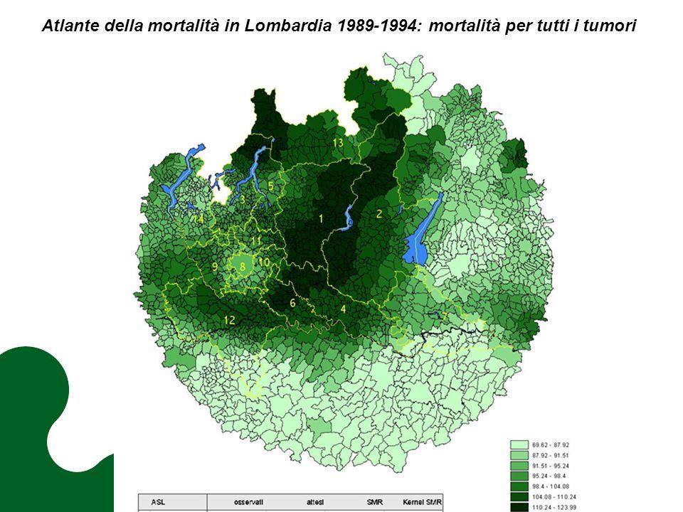 Atlante della mortalità in Lombardia 1989-1994: mortalità per tutti i tumori