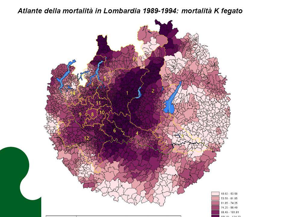 Atlante della mortalità in Lombardia 1989-1994: mortalità K fegato