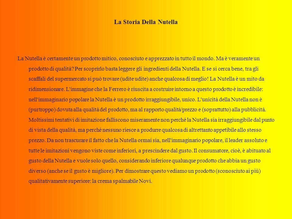 La Storia Della Nutella La Nutella è certamente un prodotto mitico, conosciuto e apprezzato in tutto il mondo.