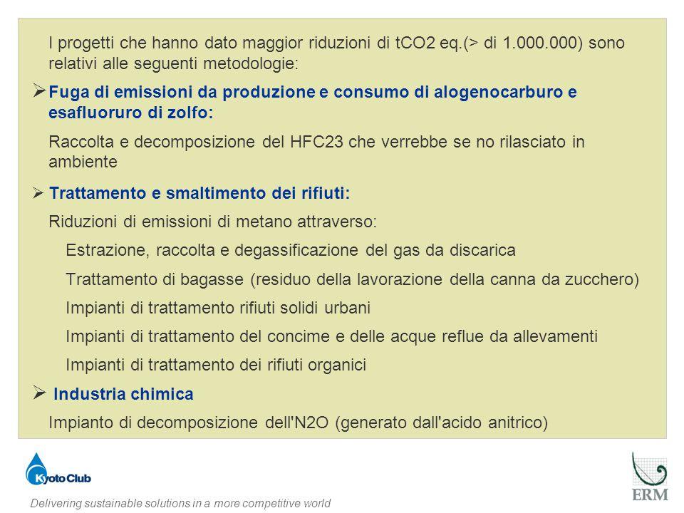 Delivering sustainable solutions in a more competitive world Ripartizione delle riduzioni tCO2 per Paese proponente