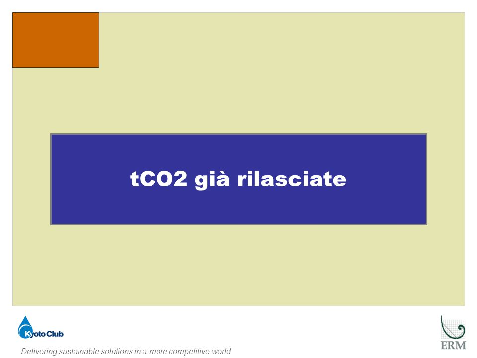Delivering sustainable solutions in a more competitive world Paese ospitantePaese proponenteCER S RILASCIATI tCo2 eq.