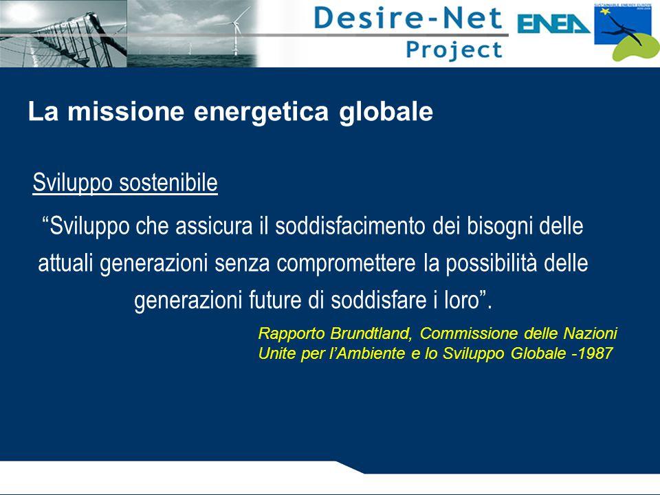 Sviluppo sostenibile Sviluppo che assicura il soddisfacimento dei bisogni delle attuali generazioni senza compromettere la possibilità delle generazioni future di soddisfare i loro .
