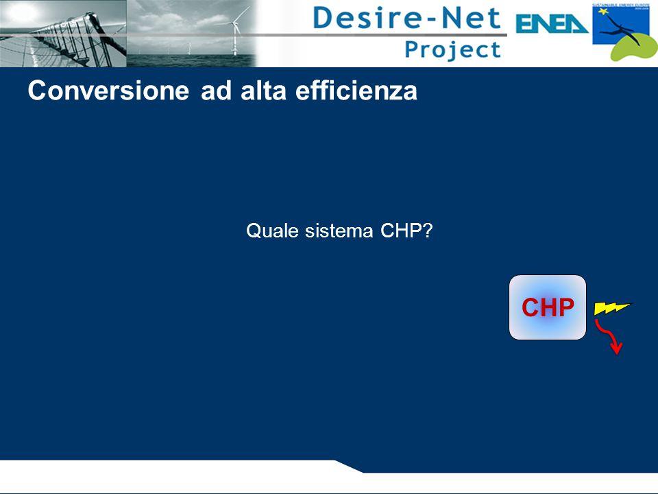 Quale sistema CHP? CHP Conversione ad alta efficienza