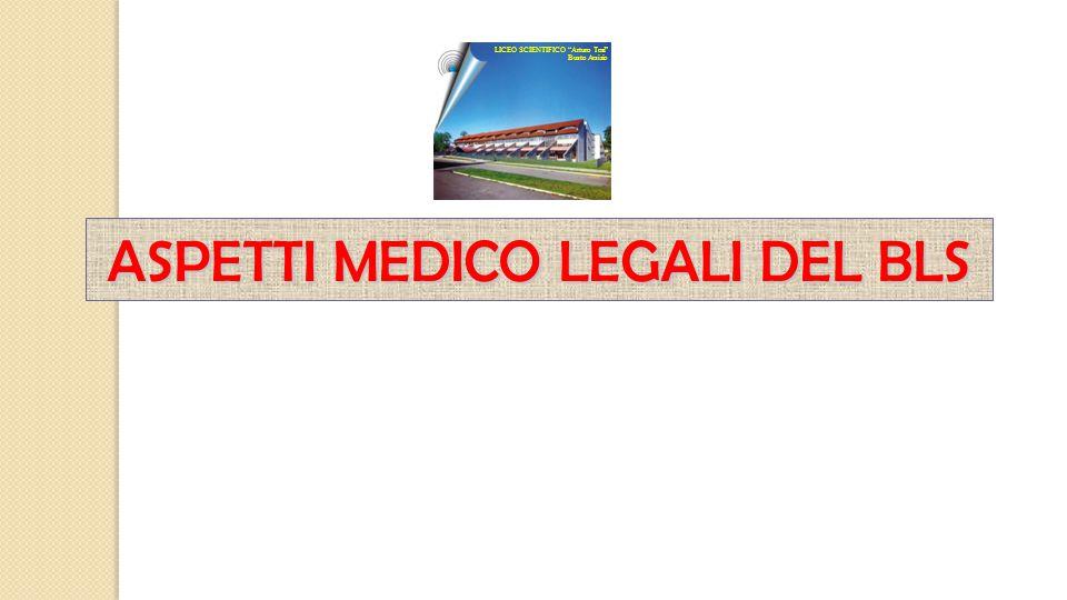 """ASPETTI MEDICO LEGALI DEL BLS LICEO SCIENTIFICO """"Arturo Tosi"""" Busto Arsizio"""